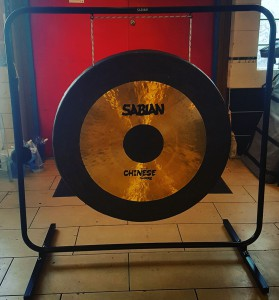"Our new Sabian B&O 40"" Chinese Gong with stand and mallets."